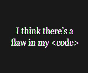 black, code, and flaw image
