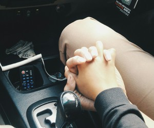 couple, car, and holding hands image