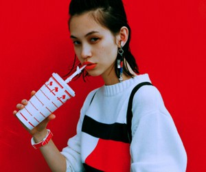 model, red, and kiko image