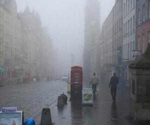 london, rain, and fog image