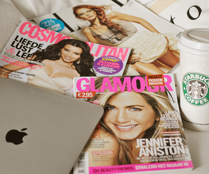 magazine, starbucks, and glamour image