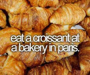 croissant, paris, and bakery image