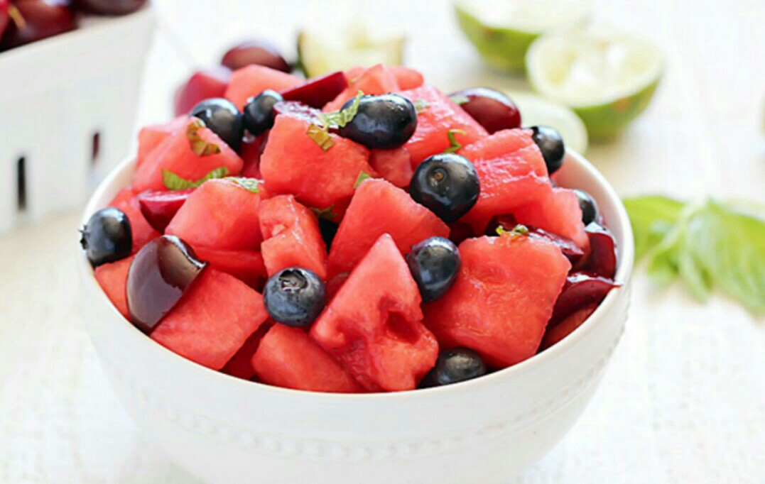 summer, yummy, and fruit salad image