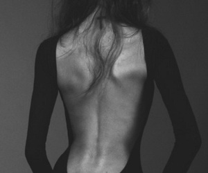 backless, beauty, and dress image