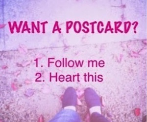 follow, hearts, and me image