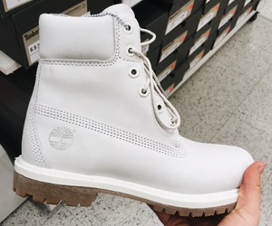 timberland, white, and timberlands image