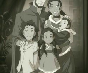 avatar, aang, and katara image