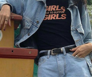 fashion, girl, and denim image