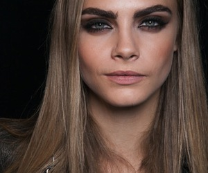 model, cara delevingne, and eyebrows image