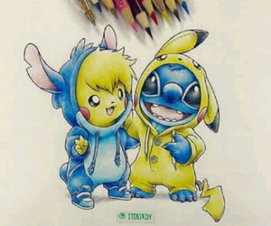 animation, pikachu, and draw image