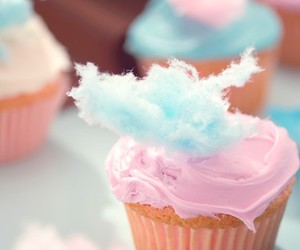 cupcake, pink, and cotton candy image