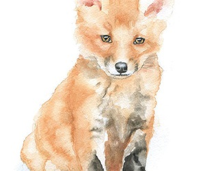 fox, art, and cute image