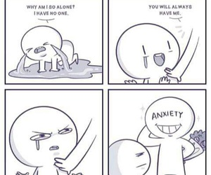 anxiety, sad, and funny image