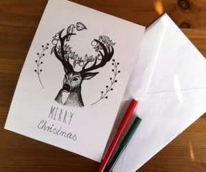 christmas card, etsy, and greeting cards image