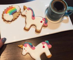 unicorn, biscuits, and rainbow image