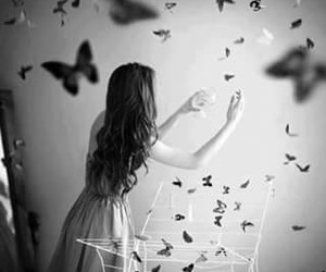 butterfly and girl image