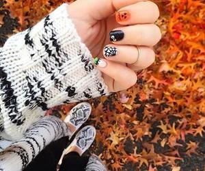 autumn, beautiful, and nails image