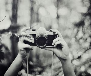 photography, camera, and black and white image