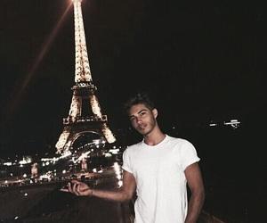 boy, paris, and eiffel tower image