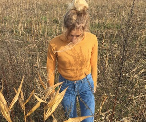 art, autumn, and blond image