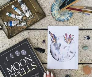 art and moon image