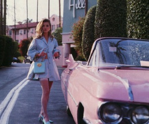 pink, car, and vintage image