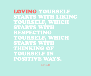 self love and self acceptance image