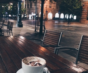 coffee, night, and city image