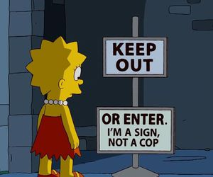 simpsons, funny, and sign image