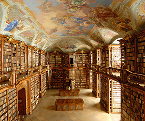 library, austria, and books image