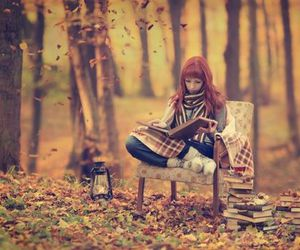 autumn, books, and read image