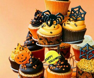 cake, Halloween, and cupcake image