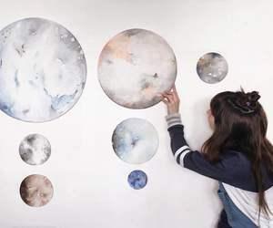 planet, art, and girl image