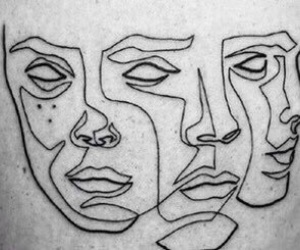 art, face, and tattoo image