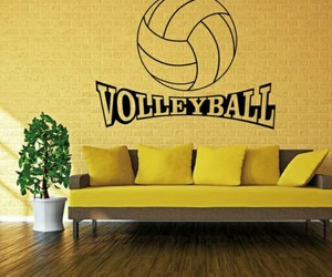 sticker and volleyball image