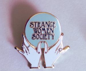 pins, woman, and strange image