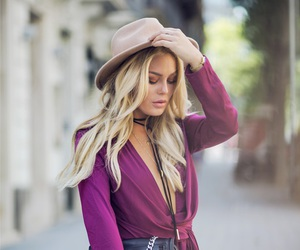 blonde, fashion, and angelica blick image