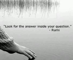 Rumi, quotes, and answer image