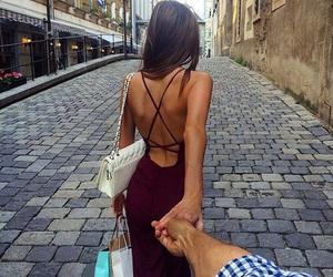 fashion, couple, and dress image