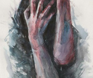 anxiety, idk, and pain image