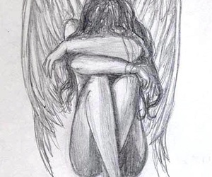 angels, loneliness, and sadness image
