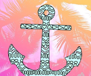 anchor, background, and girly image