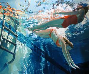 art, underwater, and girls image