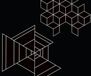 black, square, and geometric image