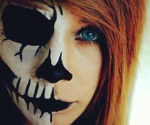 girl, emo, and skull image