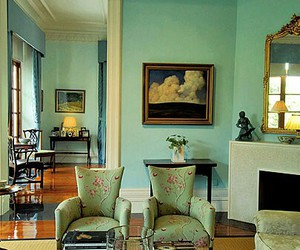 blue and green, home decor, and color schemes image