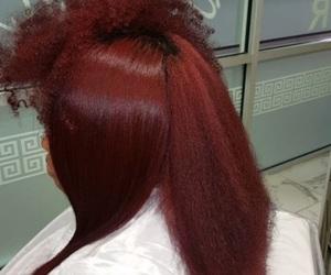 beauty, curls, and flat iron image