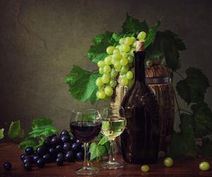 autumn, wine, and bottle image