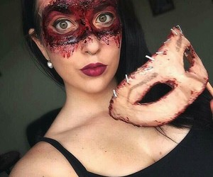 blood, Halloween, and leaves image