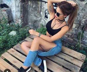 cool gal and amazing denims image